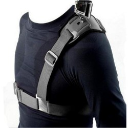 Shoulder strap harness with mount for GoPro