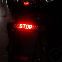 Motorcycle LED tail light - STOP indicator - turning lights LED strip