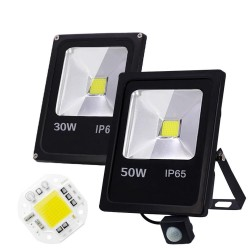 10W 30W 50W / AC 220V 240V - LED flood light with motion sensor - IP65 waterproof