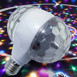 6W LED E27 RGB - Rotationslampe mit Doppelkopf - Bühne und Disco - Lampe