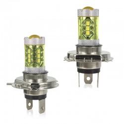 80W - H1 H3 H4 H7 H8 9005 9004 / 4300K LED 2835 - 12V Glühlampe - gelbe Nebelscheinwerfer - Scheinwerfer - 2 Stück