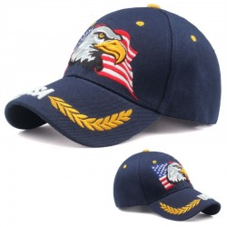 Baseball cap with USA flag & eagle - unisex