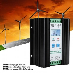 12V PWM wind & solar energy hybrid controller - digital intelligent control - boost charging regulator