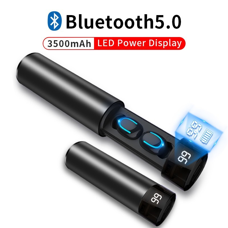Q67 TWS wireless earbuds - 3D stereo - Bluetooth 5 - microphone - waterproof - auto pairing headset