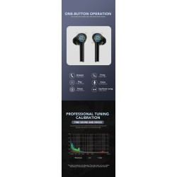 Bluetooth V5.0 - touch operate headset - noise-cancelling - TWS wireless dual earbuds