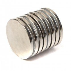 N52 Neodymium cylinder magnet 30mm * 3mm - 10 pieces