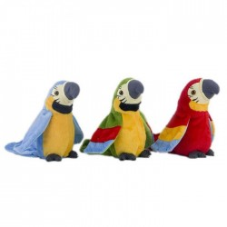 Plush talking parrot - repeats what you say - waves its wings - plush toy