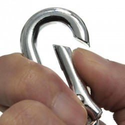 Stainless steel carabiner clip keychain - keyring