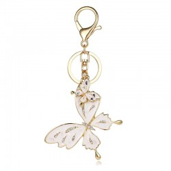 Crystal butterfly - keychain