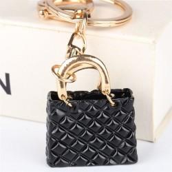 Crystal black handbag - keychain