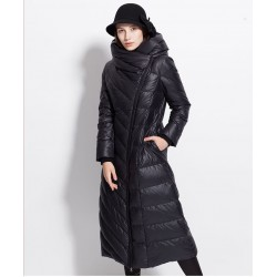 Winter waterproof long coat - down jacket with hood - plus size
