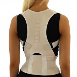 Orthopaedic back support belt - posture correction - back corrector with magnets