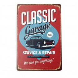 Classic Garage Repair & Service Metal Sign Poster