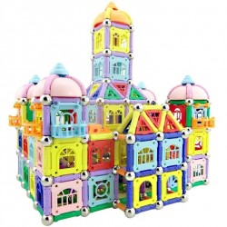 Magnet sticks with metal balls - magnetic blocks - castle building construction - educational toy