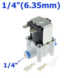 "Plastic solenoid valve - 1/4""-3/8"" hose pipe - quick connection RO water reverse osmosis system"