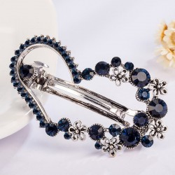 Crystal heart shaped flower - hairpin