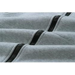 Casual oversized jacket - long hooded sweatshirt with zipper - plus size