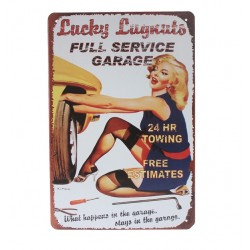 Full service - metal sign - poster