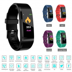 115plus smart bracelet - Bluetooth 4 - Android 4 - heart rate - calorie counter - LED digital smartwatch